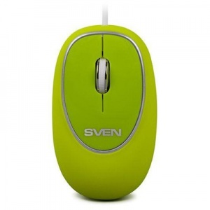 Мышь компьютерная SVEN RX-555 Antistress Silent/green