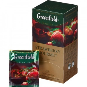 Чай Greenfield Strawberry gourmet черный 1,5г. x 25пак