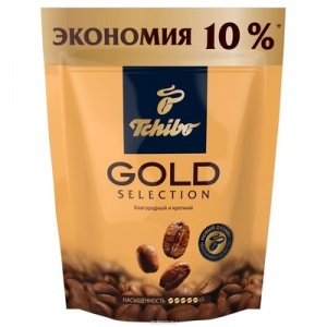 Кофе Tchibo Gold Selection растворимый сублимированный 75г пакет